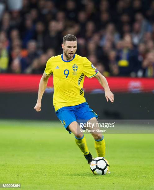 Marcus Berg of Sweden during the FIFA 2018 World Cup Qualifier between Netherlands and Sweden at Amsterdam ArenA on October 10 2017 in Amsterdam...