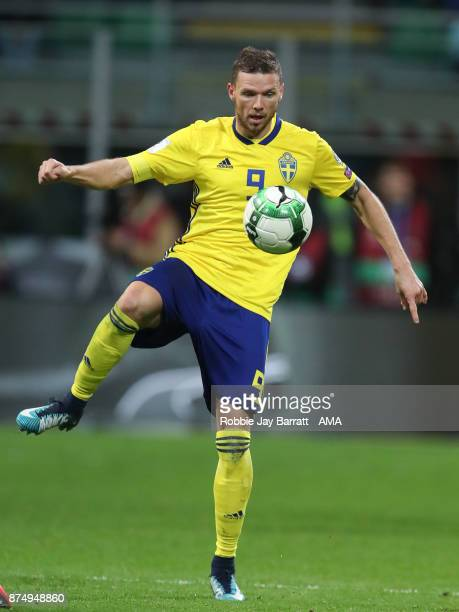 Marcus Berg of Sweden during the FIFA 2018 World Cup Qualifier PlayOff Second Leg between Italy and Sweden at San Siro Stadium on November 13 2017 in...