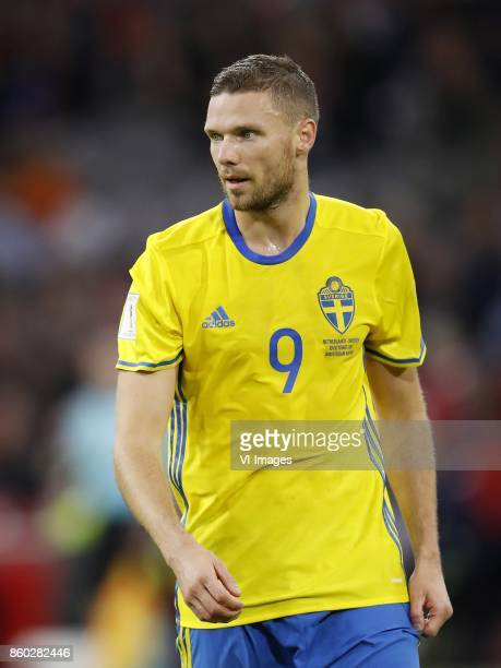 Marcus Berg of Sweden during the FIFA World Cup 2018 qualifying match between The Netherlands and Sweden at the Amsterdam Arena on October 10 2017 in...