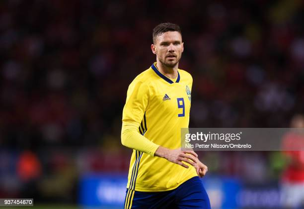 Marcus Berg of Sweden during the International Friendly match between Sweden and Chile at Friends arena on March 24 2018 in Solna Sweden