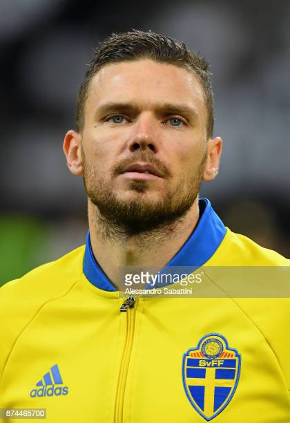 Marcus Berg of Sweden looks on during the FIFA 2018 World Cup Qualifier PlayOff Second Leg between Italy and Sweden at San Siro Stadium on November...