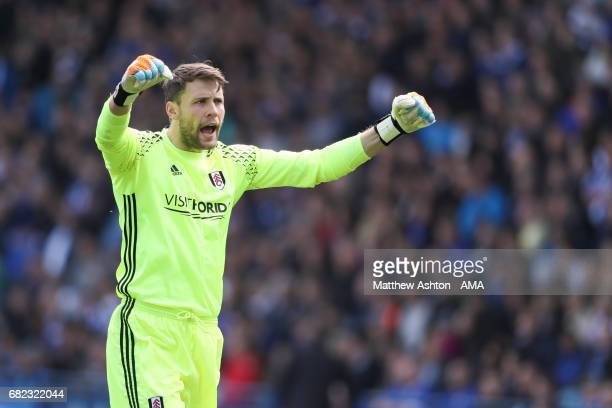 Marcus Bettinelli of Fulham during the Sky Bet Championship match between Sheffield Wednesday and Fulham at Hillsborough on May 7 2017 in Sheffield...