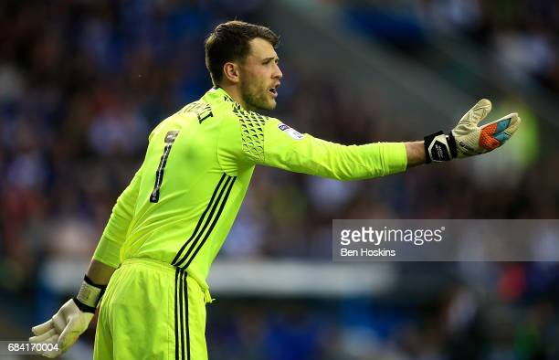 Marcus Bettinelli of Fulham in action during the Sky Bet Championship Play Off Second Leg match between Reading and Fulham at Madejski Stadium on May...