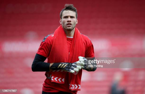 Marcus Bettinelli of Middlesborough looks on in the warm up prior to the Sky Bet Championship match between Middlesbrough and Reading at Riverside...
