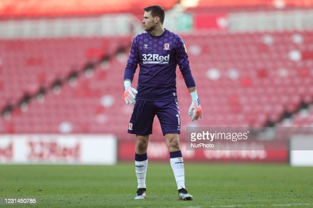 Marcus Bettinelli of Middlesbrough during the Sky Bet Championship match between Middlesbrough and Cardiff City at the Riverside Stadium,...