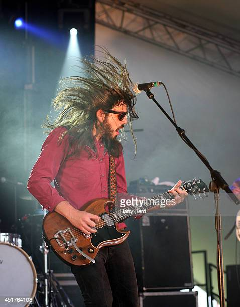 Marcus Bonfanti performs on stage at Cornbury Music Festival at Great Tew Estate on July 6 2014 in Oxford United Kingdom