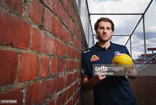 Marcus Bontempelli of the Bulldogs poses during a Western Bulldogs AFL media opportunity at Whitten Oval on September 26 2016 in Melbourne Australia