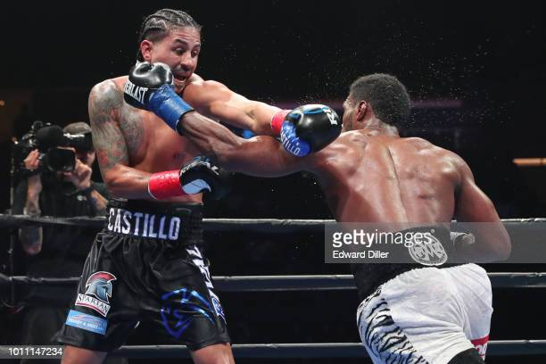 Marcus Browne lands a left hand against Lenin Castillo Browne would win by unanimous decision at the Nassau Veterans Memorial Coliseum on August 4...