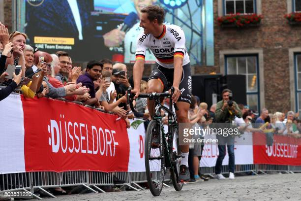 Marcus Burghardt of Germany and Borahansgrohe rides during the team presentation for the 2017 Le Tour de France on June 29 2017 in Duesseldorf Germany