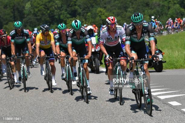 Marcus Burghardt of Germany and Team Bora-Hansgrohe / Lukas Postlberger of Austria and Team Bora-Hansgrohe / Andreas Schillinger of Germany and Team...