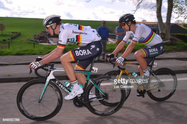 Marcus Burghardt of Germany and Team BoraHansgrohe / Peter Sagan of Slovakia and Team BoraHansgrohe / during the 53rd Amstel Gold Race 2018 a 263km...
