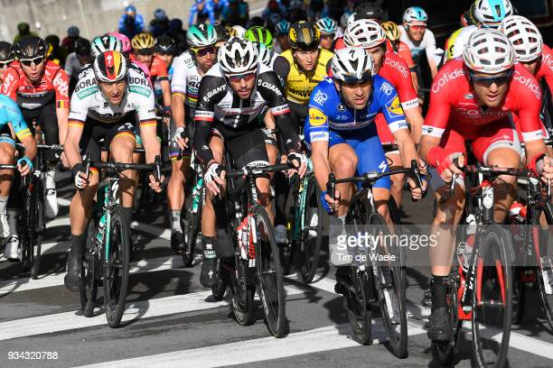 Marcus Burghardt of Germany and Team BoraHansgrohe / Roy Curvers of The Netherlands and Team Sunweb / Maximiliano Ariel Richeze of Argentinia and...
