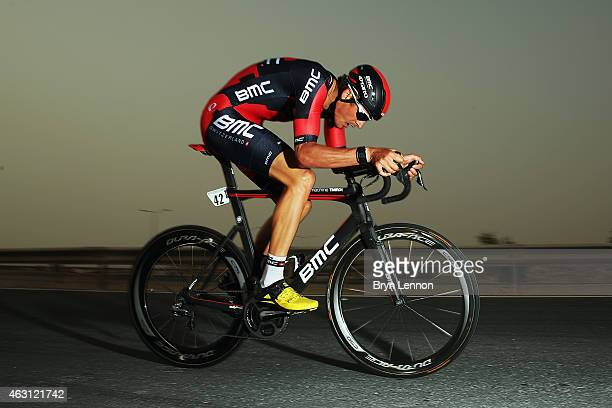 Marcus Burghardt of Germany and the BMC Racing Team in action on stage three of the 2015 Tour of Qatar a 109km individual time trial at the Lusail...