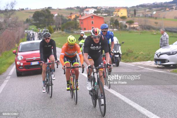 Marcus Burghardt of Germany Jacopo Mosca of Italy Orange Sprint Jersey Krists Neilands of Latvia Artem Nych of Rusia during the 53rd TirrenoAdriatico...