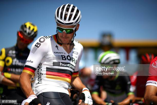 Marcus Burghardt of Germany riding for BoraHansgrohe prepares to start during stage 15 of the 2017 Le Tour de France a 1895km stage from...