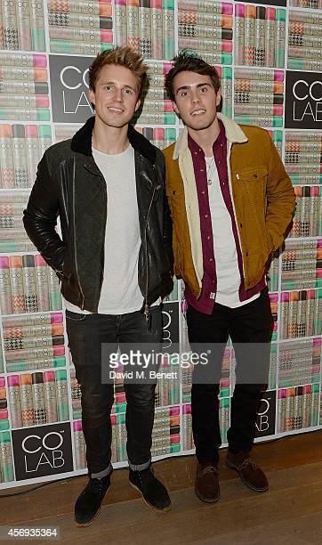 Marcus Butler and Alfie Deyes attend as Ruth Crilly unveils a new haircare sensation 'Colab' on October 9 2014 in London England