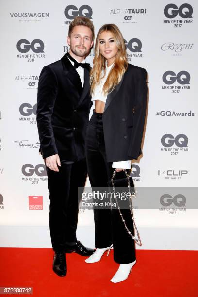 Marcus Butler and Stefanie Giesinger arrive for the GQ Men of the year Award 2017 at Komische Oper on November 9 2017 in Berlin Germany