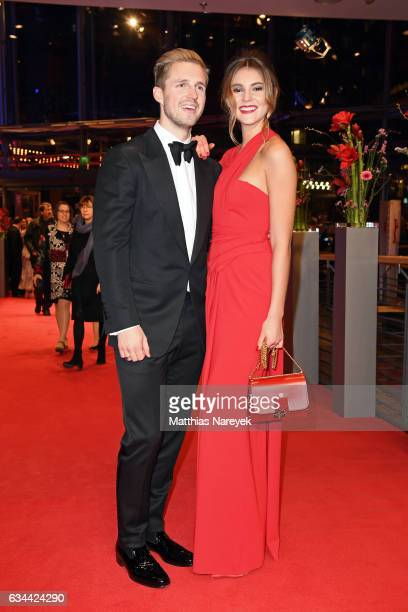Marcus Butler and Stefanie Giesinger attend the 'Django' premiere during the 67th Berlinale International Film Festival Berlin at Berlinale Palace on...