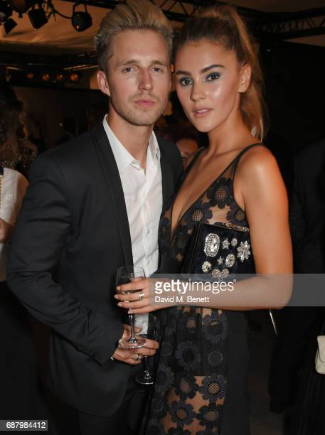 Marcus Butler and Stefanie Giesinger attend the L'Oreal Paris Cinema Club party celebrating L'Oreal's 20th anniversary as the official beauty partner...