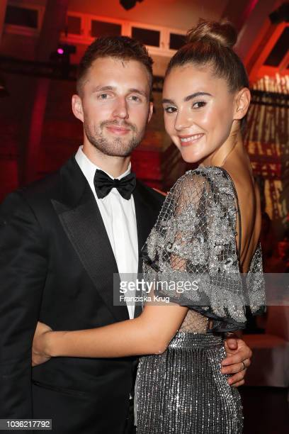 Marcus Butler and Stefanie Giesinger during the Dreamball 2018 at WECC Westhafen Event Convention Center on September 19 2018 in Berlin Germany