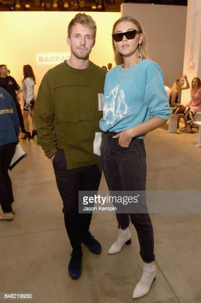 Marcus Butler and Stefanie Gisinger attend Barragan fashion show during New York Fashion Week The Shows at Gallery 2 Skylight Clarkson Sq on...
