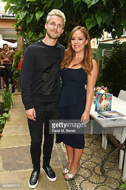 Marcus Butler and Tanya Burr attend an intimate dinner hosted by Tanya Burr to launch her first cookbook 'Tanya Bakes' at Number Sixteen on June 30...
