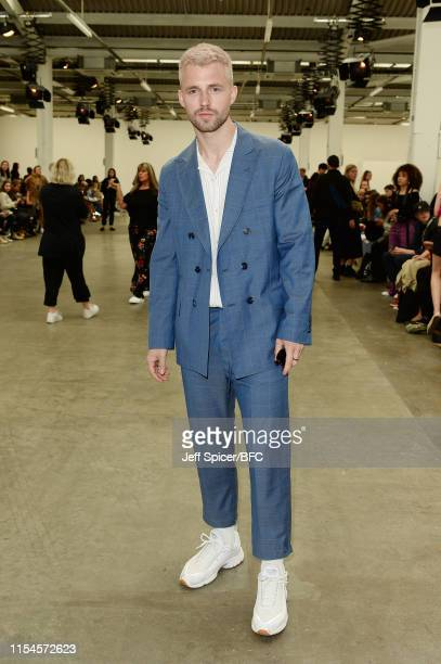 Marcus Butler attends the runway after the Munn show during London Fashion Week Men's June 2019 at the BFC Show Space on June 08 2019 in London...