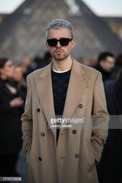 Marcus Butler is seen outside Louis Vuitton show during Paris Fashion week Womenswear Fall/Winter 2020/2021 Day Nine on March 03 2020 in Paris France