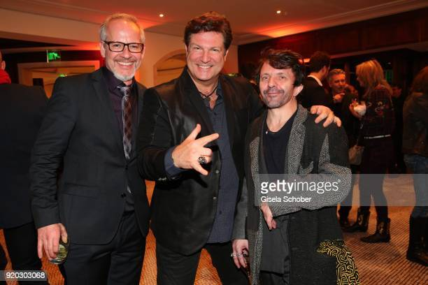 Marcus Calvin Francis Fulton Smith and David Bennent during the Movie Meets Media 'MMM' event on the occasion of the 68th Berlinale International...