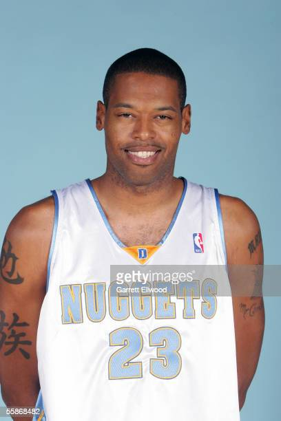 Marcus Camby of the Denver Nuggets poses for a head shot during Nuggets media day on October 3 2005 at the Pepsi Center in Denver Colorado NOTE TO...