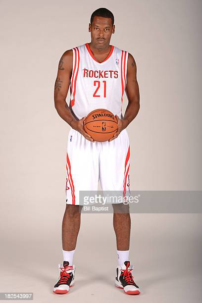 Marcus Camby of the Houston Rockets poses for a picture during Media Day on September 27 2013 at the Toyota Center in Houston Texas NOTE TO USER User...