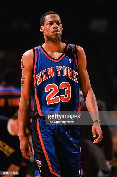 Marcus Camby of the New York Knicks during Game Two of the Eastern Conference Finals against the Indiana Pacers on June 1 1999 at Market Square Arena...