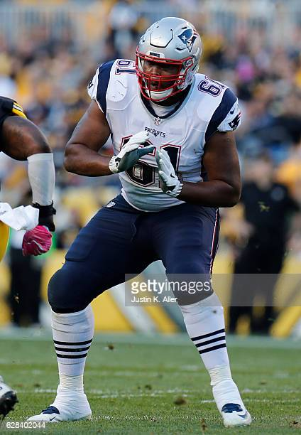 Marcus Cannon of the New England Patriots in action against the Pittsburgh Steelers at Heinz Field on October 23 2016 in Pittsburgh Pennsylvania