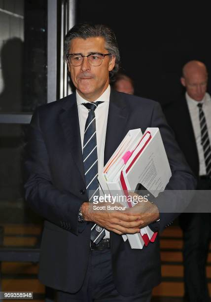 Marcus Clarke Solicitor for the Carlton Football Club and Andrew McKay General Manager Football Operations at the Carlton Football Club arrive ahead...