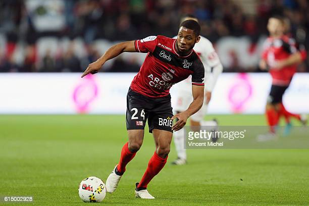 Marcus Coco of Guingamp during the Ligue 1 match between EA Guingamp and Lille OCS at Stade du Roudourou on October 15, 2016 in Guingamp, France.