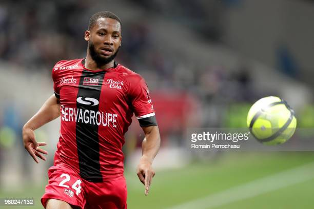Marcus Coco of Guingamp in action during the Ligue 1 match between Toulouse and EA Guingamp at Stadium Municipal on May 19 2018 in Toulouse