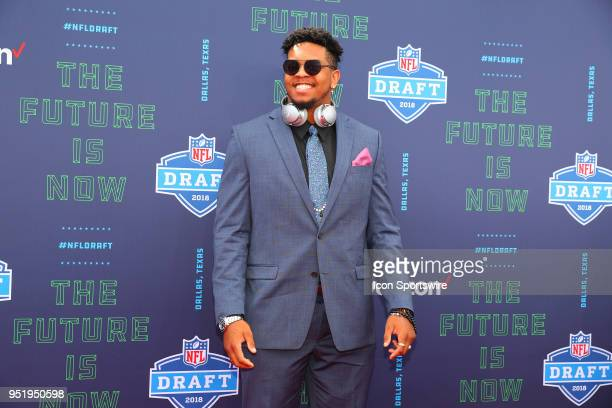 Marcus Davenport on the Red Carpet prior to the 2018 NFL Draft at ATT Statium on April 26 2018 at ATT Stadium in Arlington Texas