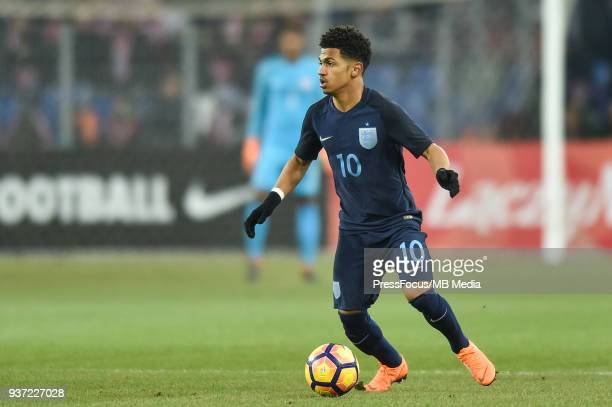 Marcus Edwards of England during the U20 Elite League match between Poland and England at the Municipal Stadium on March 22 2018 in BielskoBiala...