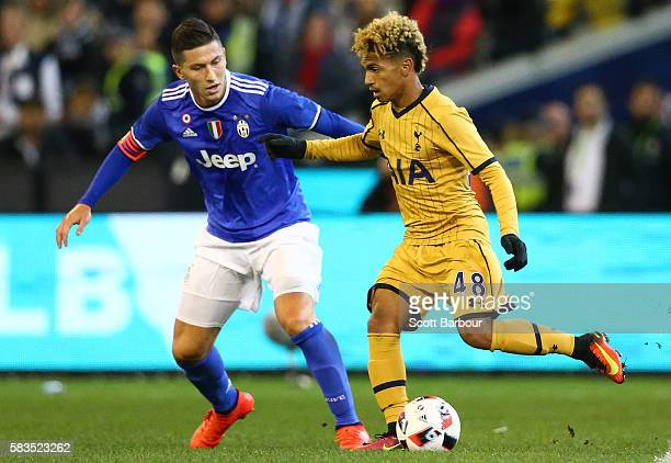 Marcus Edwards of Tottenham Hotspur controls the ball during the 2016 International Champions Cup match between Juventus FC and Tottenham Hotspur at...