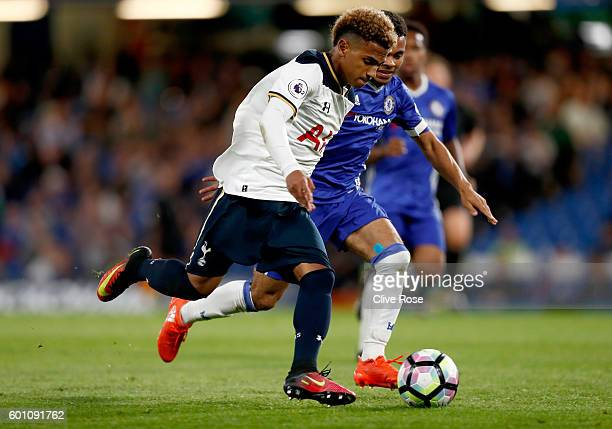 Marcus Edwards of Tottenham Hotspur in action during the Premier League 2 match between Chelsea and Tottenham Hotspur at Stamford Bridge on September...