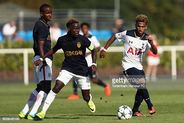 Marcus Edwards of Tottenham Hotspur in action during the UEFA Youth Champions League match between Tottenham Hotspur FC and AS Monaco FC at the...