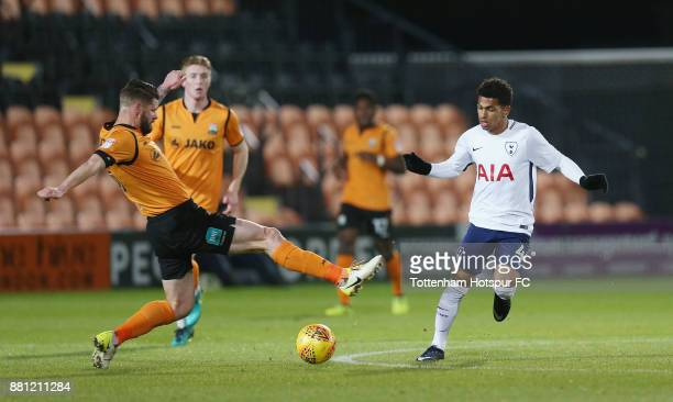 Marcus Edwards of Tottenham in action during the Checkatrade Trophy match between Barnet and Tottenham Hotspur U23 at The Hive on November 28 2017 in...
