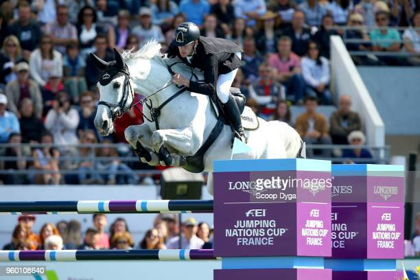 Marcus EHNING riding CALANDA 42 during the Prix Groupe Barriere on May 19 2018 in La Baule France