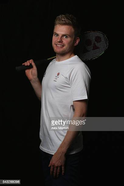 Marcus Ellis of Team GB during the Announcement of Badminton Athletes Named in Team GB for the Rio 2016 Olympic Games at the National Badminton...