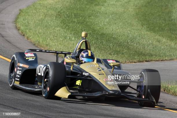Marcus Ericsson driver of the Arrow Schmidt Peterson Motorsports Honda races into turn 3 during the ABC Supply 500 on August 18 at Pocono Raceway in...