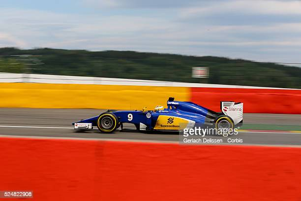 Marcus Ericsson driving for the Sauber F1 Team in action during the race of the 2015 Formula 1 Shell Belgian Grand Prix at Circuit de...