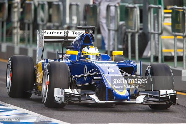 Marcus Ericsson of Sauber F1 team before start of qualifying on day 3 of the 2015 Australian Formula 1 Grand Prix at Albert Park on March 14 2015 in...
