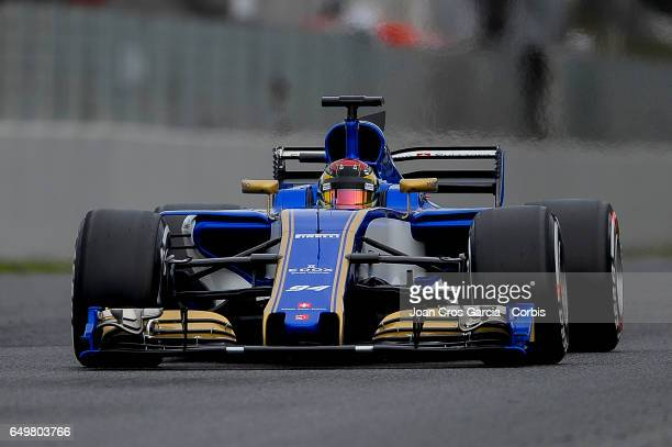 Marcus Ericsson of Sauber F1Team driving his car during the Formula One preseason tests on May 8 2017 in Barcelona Spain