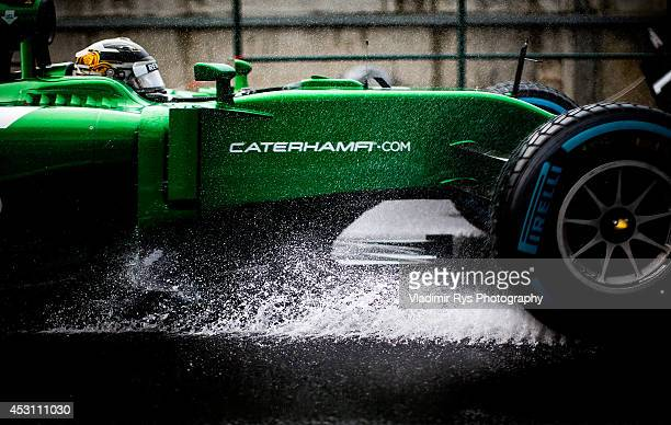 Marcus Ericsson of Sweden and Caterham drives during the Hungarian Formula One Grand Prix at Hungaroring on July 27, 2014 in Budapest, Hungary.