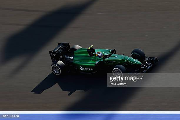Marcus Ericsson of Sweden and Caterham drives during the Russian Formula One Grand Prix at Sochi Autodrom on October 12, 2014 in Sochi, Russia.